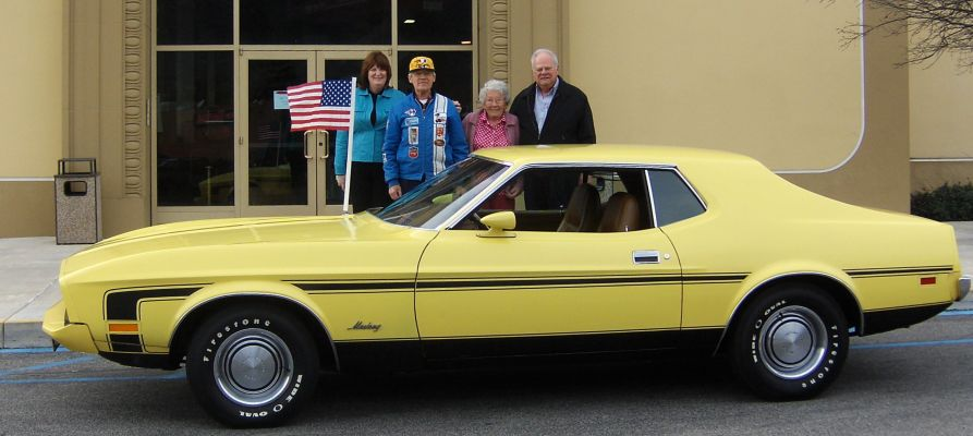 1973 Mustang Cobra Jet donated to The Nethercutt Collection by Siegfried and Elvira Grunze